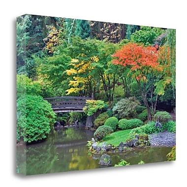Tangletown Fine Art 'Garden Bridge' Photographic Print on Canvas; 22'' H x 33'' W
