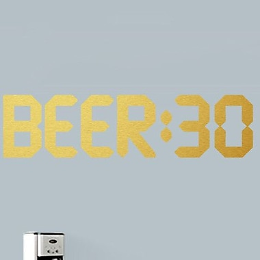SweetumsWallDecals Beer 30 Wall Decal; Gold
