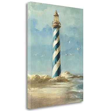 Tangletown Fine Art Lighthouse I' Print on Wrapped Canvas; 40'' H x 32'' W