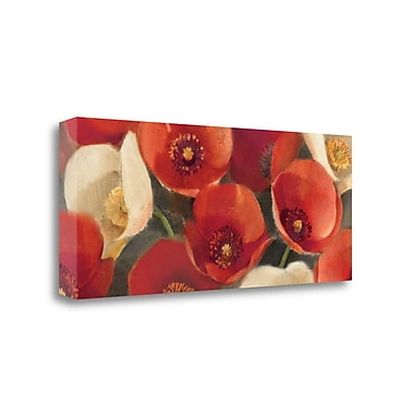 Tangletown Fine Art 'Poppies Bloom I' Print on Canvas; 20'' H x 39'' W