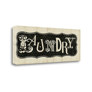 Tangletown Fine Art 'Room Signs I - Laundry' Textual Art on Canvas; 13'' H x 32'' W