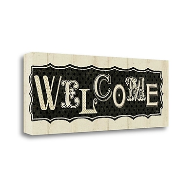 Tangletown Fine Art 'Room Signs IV - Welcome' Textual Art on Canvas; 16'' H x 40'' W