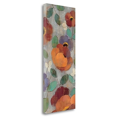 Tangletown Fine Art 'Urban Floral Panel I' Print on Wrapped Canvas; 40'' H x 16'' W