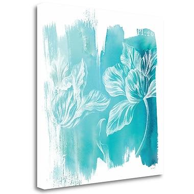 Tangletown Fine Art 'Water Wash II' Graphic Art Print on Canvas; 18'' H x 18'' W