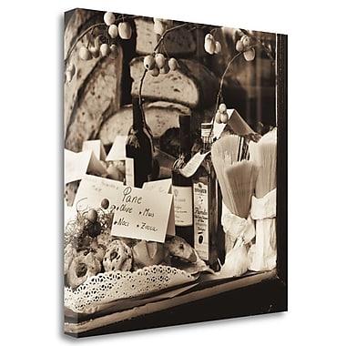 Tangletown Fine Art 'Pasta Pane e Vino' Photographic Print on Wrapped Canvas; 35'' H x 35'' W