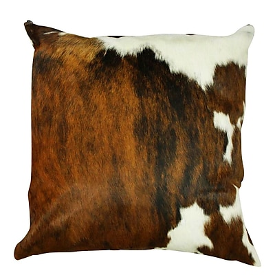 Rodeo Authentic Cowhide Throw Pillow Cover