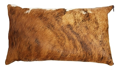 Rodeo Brindle Authentic Cowhide Lumbar Pillow Cover