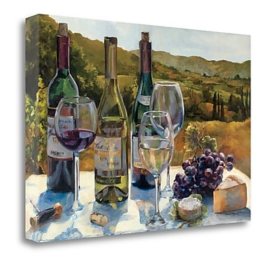 Tangletown Fine Art 'A Wine Tasting' Print on Wrapped Canvas; 16'' H x 24'' W