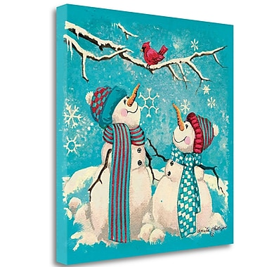 Tangletown Fine Art 'Bird Watching' Print on Wrapped Canvas; 29'' H x 29'' W