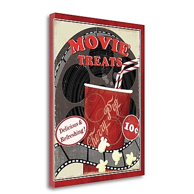 Tangletown Fine Art 'At the Movies II' Vintage Advertisement on Wrapped Canvas; 28'' H x 22'' W