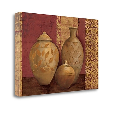 Tangletown Fine Art 'Aegean Vessels on Spice' Print on Wrapped Canvas; 26'' H x 39'' W