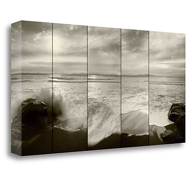 Tangletown Fine Art 'Tides and Waves' Photographic Print on Wrapped Canvas; 15'' H x 29'' W