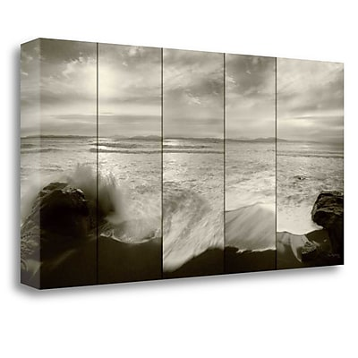 Tangletown Fine Art 'Tides and Waves' Photographic Print on Wrapped Canvas; 17'' H x 34'' W