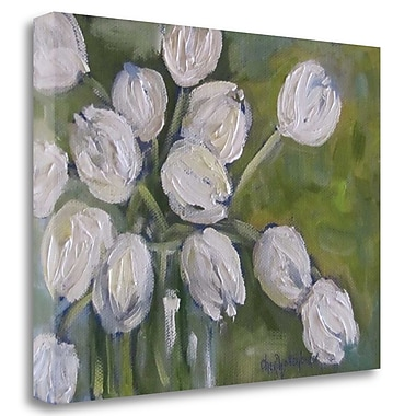 Tangletown Fine Art 'White Tulips' Print on Wrapped Canvas; 24'' H x 32'' W