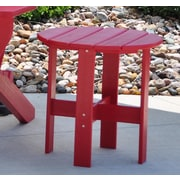 Frog Furnishings Side Table; Red