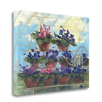 Tangletown Fine Art 'Violets' Print on Canvas; 20'' H x 26'' W