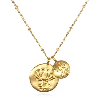 Satya Double Lotus Necklace