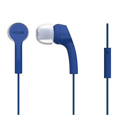 Koss KEB9IB Noise Isolating In-Ear Headphones With Mic, Blue