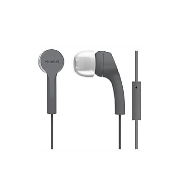 Koss KEB9IGRY Noise Isolating In-Ear Headphones With Mic, Grey