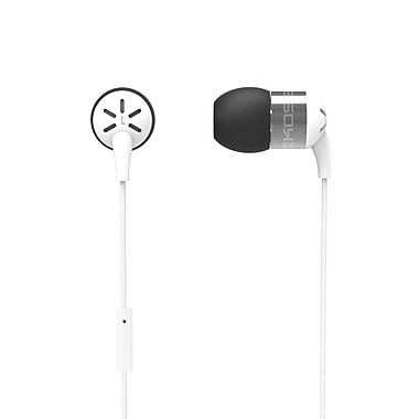 Koss KEB25IW In-Ear Headphones With Mic, White