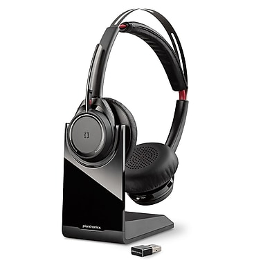 Plantronics 202652-04 Voyager Focus UC Stereo with Active Noise Canceling Bluetooth Headset, Black