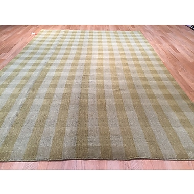 Rug Tycoon Organic Hand-Knotted Beige/Gray Area Rug