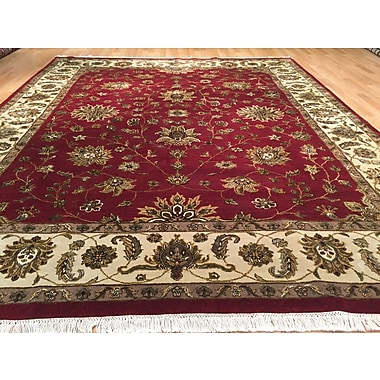 Rug Tycoon Jaipur Hand-Knotted Red/Green Area Rug