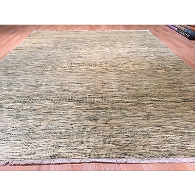 Rug Tycoon Savannah Hand-Knotted Ivory/Green Area Rug