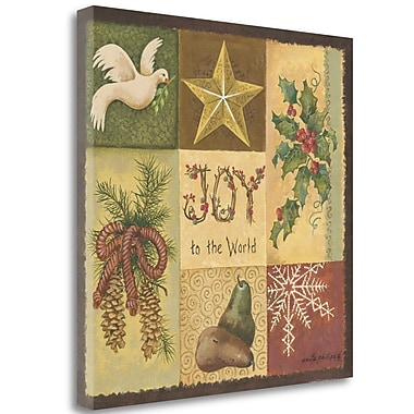 Tangletown Fine Art 'Joy to the World' Graphic Art Print on Canvas; 35'' H x 35'' W