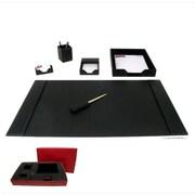 Dacasso 1400 Series Econo-Line 6 Piece Desk Set; Black