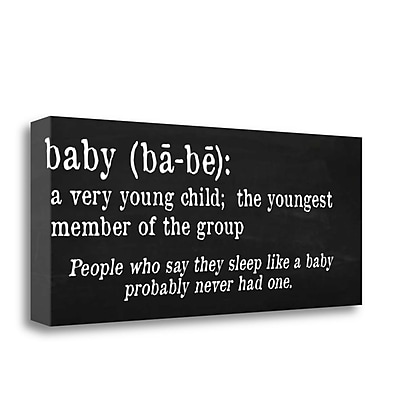 Tangletown Fine Art 'Baby Definition' Textual Art on Canvas; 16'' H x 40'' W