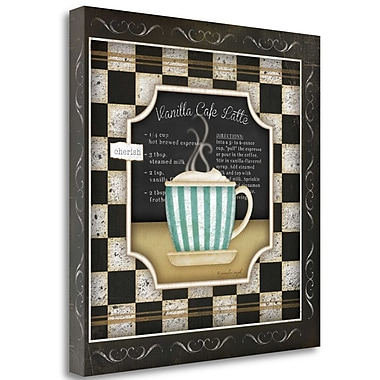 Tangletown Fine Art 'Kitchen Cuisine Coffee IV' Graphic Art Print on Canvas; 24'' H x 24'' W