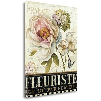 Tangletown Fine Art 'Marche de Fleurs III' Graphic Art Print on Wrapped Canvas; 28'' H x 22'' W