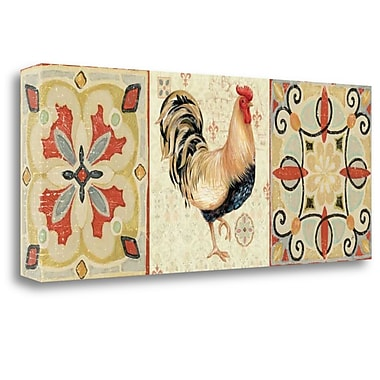 Tangletown Fine Art 'Bohemian Rooster Panel II' Graphic Art Print on Canvas; 16'' H x 40'' W