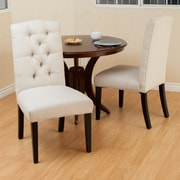 Home Loft Concepts Berlin Tufted Fabric Dining Chair (Set of 2); Natural Plain