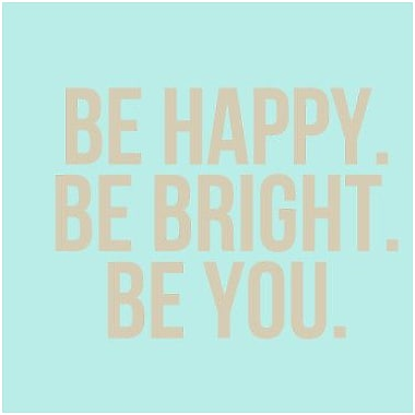 SweetumsWallDecals Be Happy Be Bright Be You Wall Decal; Beige