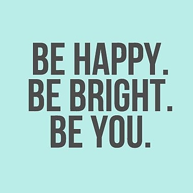 SweetumsWallDecals Be Happy Be Bright Be You Wall Decal; Dark Gray