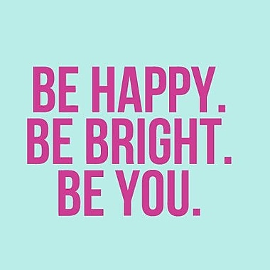 SweetumsWallDecals Be Happy Be Bright Be You Wall Decal; Hot Pink