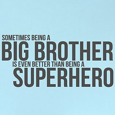 SweetumsWallDecals Big Brother Wall Decal; Dark Gray