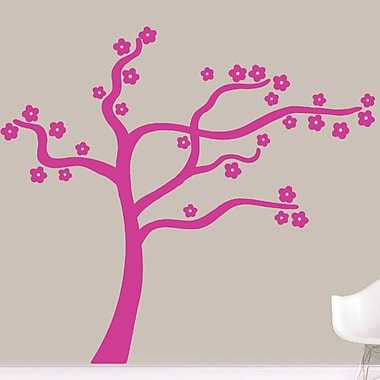 SweetumsWallDecals Blowing Flower Tree Wall Decal; Hot Pink