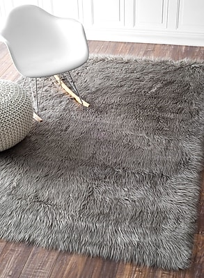 Bungalow Rose Empire Gray Area Rug; Rectangle 9' x 12'