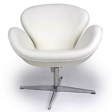 Kardiel Trumpeter Lounge Chair; Cream/White