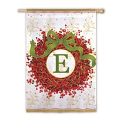 Evergreen Enterprises, Inc Holiday Monogram 2-Sided Garden Flag; E