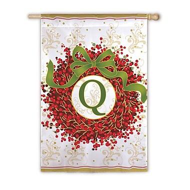 Evergreen Enterprises, Inc Holiday Monogram 2-Sided Garden Flag; Q