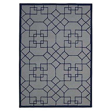 Eastern Weavers Wool Hand-Tufted Ivory/Blue Area Rug; 5' x 8'