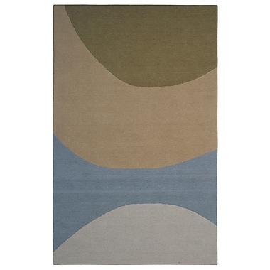 Eastern Weavers Wool Hand-Tufted Green/Blue Area Rug; 5' x 8'