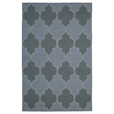 Eastern Weavers Wool Hand-Tufted Gray/Green Area Rug; 5' x 8'