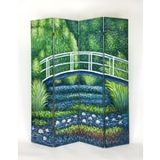 Wayborn 73'' x 64'' Hand Painted Double Sided 4 Panel Room Divider