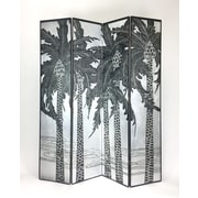 Wayborn 73'' x 64'' Hand Carved Double Sided 4 Panel Room Divider