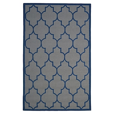 Eastern Weavers Wool Hand-Tufted Gray/Blue Area Rug; 5' x 8'